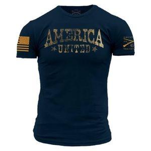 Big/Tall Grunt Style Men America United Navy Tee